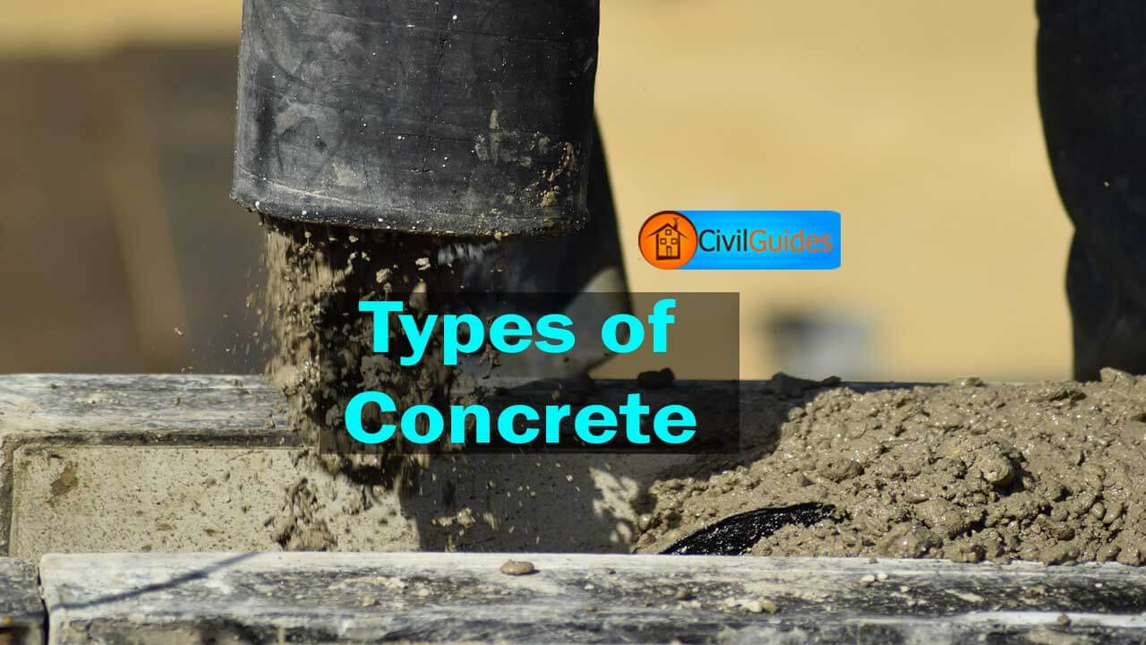 Types Of Concrete : Different types of concrete their classification uses