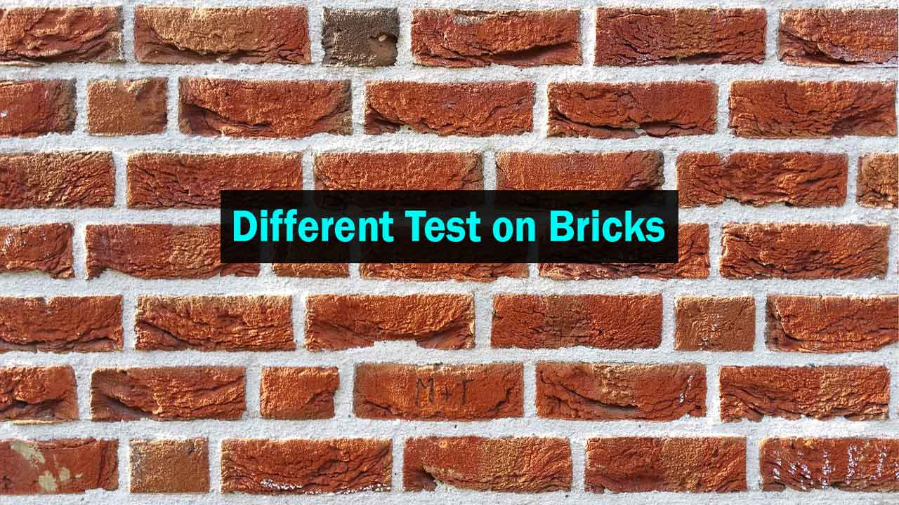 Test for Compressive Strength of Bricks, Absorption